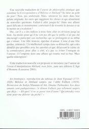 Heloise-Abelard ; Correspondance - 4ème de couverture - Format classique