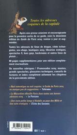 Le Guide Musardine Du Paris Sexy 2001-2002 - 4ème de couverture - Format classique
