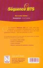 Sequence Bts ; Tertiaires Et Industrirels - 4ème de couverture - Format classique