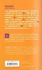Vieillir - 4ème de couverture - Format classique