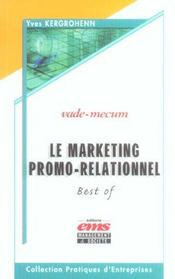 Le marketing promo relationnel. best of vade-mecum - Intérieur - Format classique