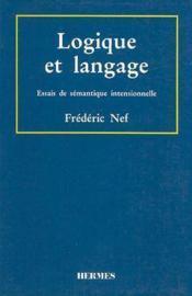 Logique et langage - Couverture - Format classique