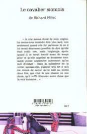 Le cavalier somois - 4ème de couverture - Format classique