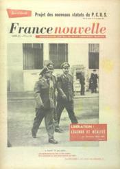 France Nouvelle N°826 du 17/08/1961 - Couverture - Format classique