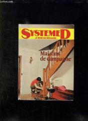 Maisons De Campagne. Amenagement, Transformations, Constructions. - Couverture - Format classique