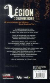 La légion de la colombe noire t.1 - 4ème de couverture - Format classique