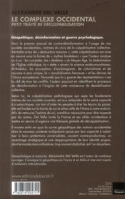 Le complexe occidental ; petit traité de déculpabilisation - 4ème de couverture - Format classique