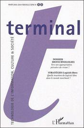 Vente livre :  Terminal N.90 ; Biotechnologies  - Collectif
