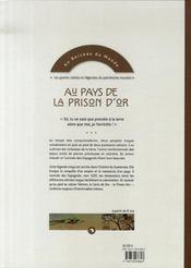 Au pays de la prison d'or - 4ème de couverture - Format classique