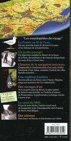 France Au Fil De L'Eau (Des Canaux : Canal Du Midi, Canal De L - 4ème de couverture - Format classique