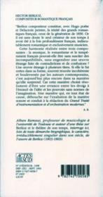 Hector berlioz, compositeur romantique francais - 4ème de couverture - Format classique