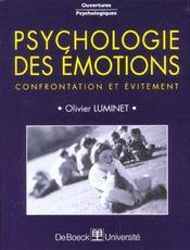 Psychologie Des Emotions Confrontation Et Evitement - Intérieur - Format classique
