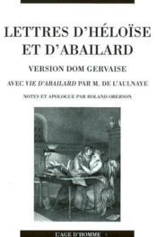 Lettres D'Heloise Et D'Abailard ; Version Dom Gervaise - Couverture - Format classique