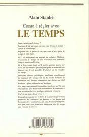 Conte A Regler Avec Le Temps - 4ème de couverture - Format classique