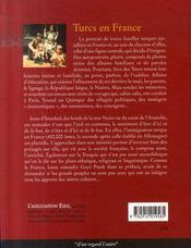 Turcs en France ; album de familles - 4ème de couverture - Format classique