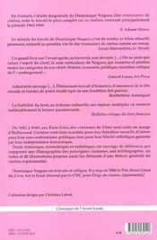 Renaissance Du Cinema (Une)-Le Cinema Underground - 4ème de couverture - Format classique