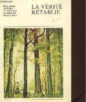 La Verite Retablie - Couverture - Format classique
