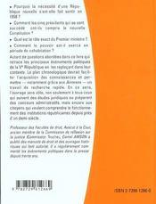 La Vie Politique Sous La Ve Republique - 4ème de couverture - Format classique