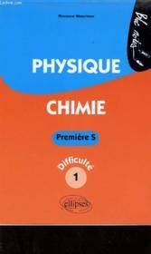 Physique chimie ; 1ère s niveau 1 - Couverture - Format classique