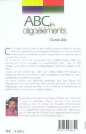 Abc des oligoelements - 4ème de couverture - Format classique