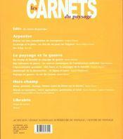 Les Carnets Du Paysage T.5 - 4ème de couverture - Format classique