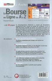 La Bourse En Ligne De A A Z - 4ème de couverture - Format classique