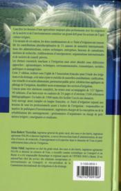 Traité d'irrigation (2e édition) - 4ème de couverture - Format classique