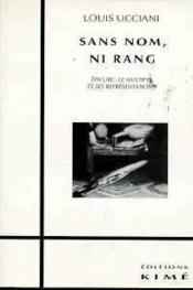 Sans Nom Ni Rang - Couverture - Format classique