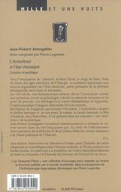 L'Antechrist A L'Age Classique - 4ème de couverture - Format classique