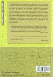Reduction des endomorphismes. tableaux de young. cone nilpotent. representations des algebres de lie - 4ème de couverture - Format classique
