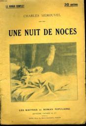 Une Nuit De Noces. - Couverture - Format classique