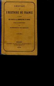 Resume De L'Histoire De France. - Couverture - Format classique