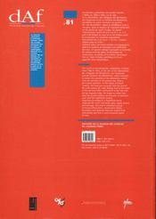 Le Quartier Antique Des Benedictins A Nimes Gard ; Decouvertes Anciennes Et Fouilles 1966-1992 - 4ème de couverture - Format classique