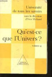 Qu'est-ce que l'univers ? - Couverture - Format classique