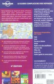 Rome (4e edition) - 4ème de couverture - Format classique
