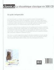 La Discotheque Classique En 500 Cd - 4ème de couverture - Format classique