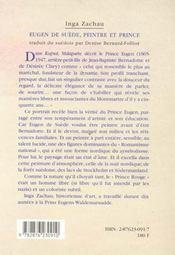 Eugen De Suede, Peintre Et Prince - 4ème de couverture - Format classique