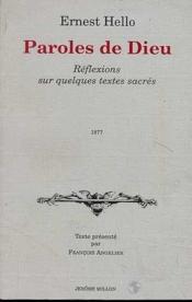 Paroles De Dieu Ancienne Edition - Couverture - Format classique