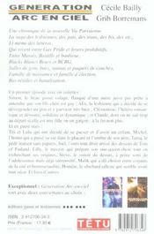 Generation Arc-En-Ciel T.1 - 4ème de couverture - Format classique