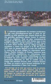 Histoire du naxalisme - 4ème de couverture - Format classique