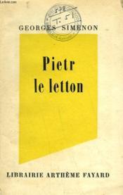 Pietr Le Letton. - Couverture - Format classique