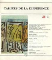 Cahiers De La Differences N 3 - Couverture - Format classique