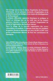 L'Essentiel De L'Economie D'Entreprise Instituts Etudes Politiques Concours Administratifs Bts Dut - 4ème de couverture - Format classique