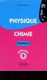 Physique chimie ; 1ère s niveau 2 - Couverture - Format classique