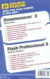 Double poche ; dreamweaver 7 et flash 8 - 4ème de couverture - Format classique
