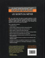 Usinage ; les secrets du métier - 4ème de couverture - Format classique