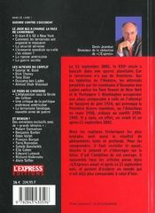 La Premiere Guerre Du Xxi Siecle ; Le Choc Du 11 Septembre 2001 - 4ème de couverture - Format classique