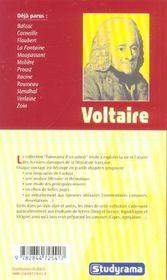 Voltaire - 4ème de couverture - Format classique