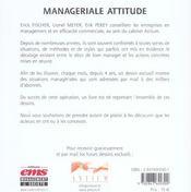 Manageriale Attitude Comment Devenir Un Manageur - Entraineur ! - 4ème de couverture - Format classique