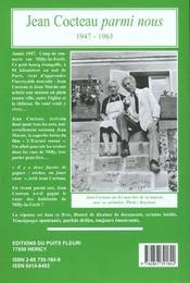 Jean Cocteau Parmi Nous - 4ème de couverture - Format classique